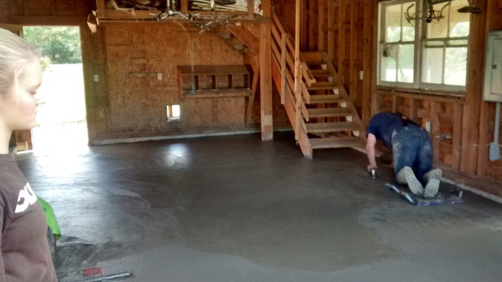 Fresh poured cement!